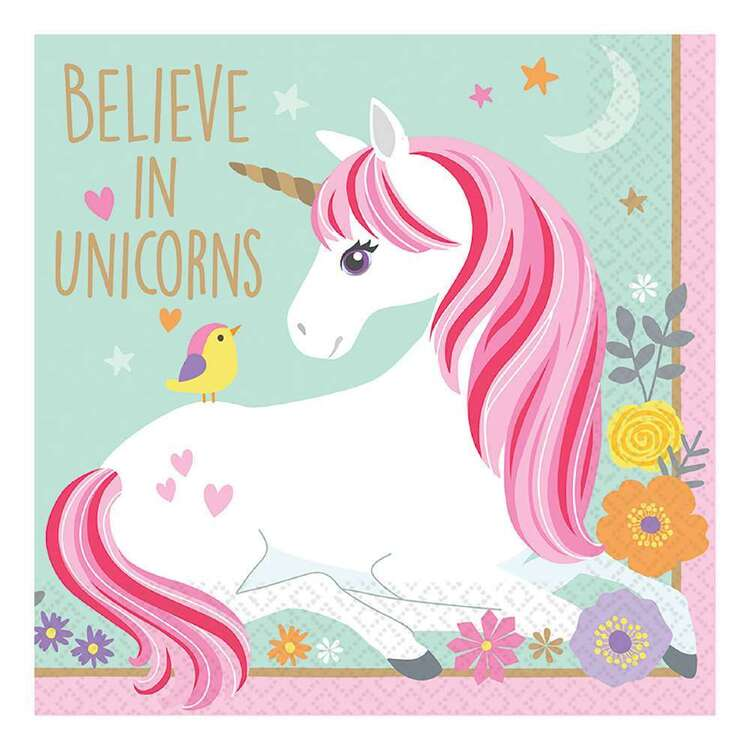 Amscan Magical Unicorn Beverage Napkins 16 Pack