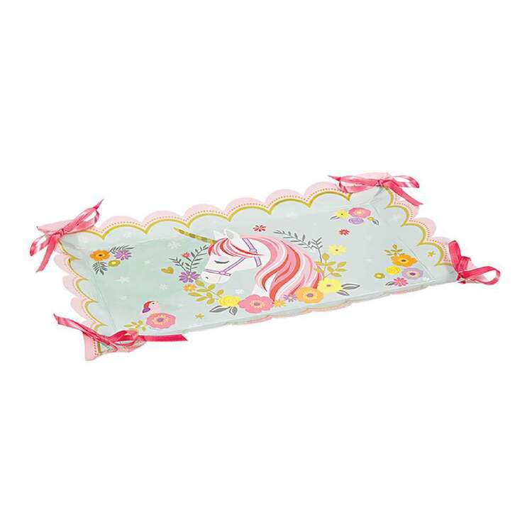 Amscan Magical Unicorn Paper Tray With Ribbon 2 Pack