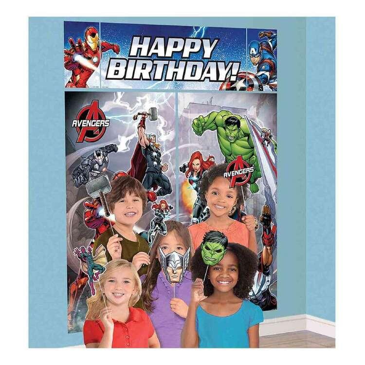 Amscan Avengers Epic Happy Birthday Scene Setter & Props