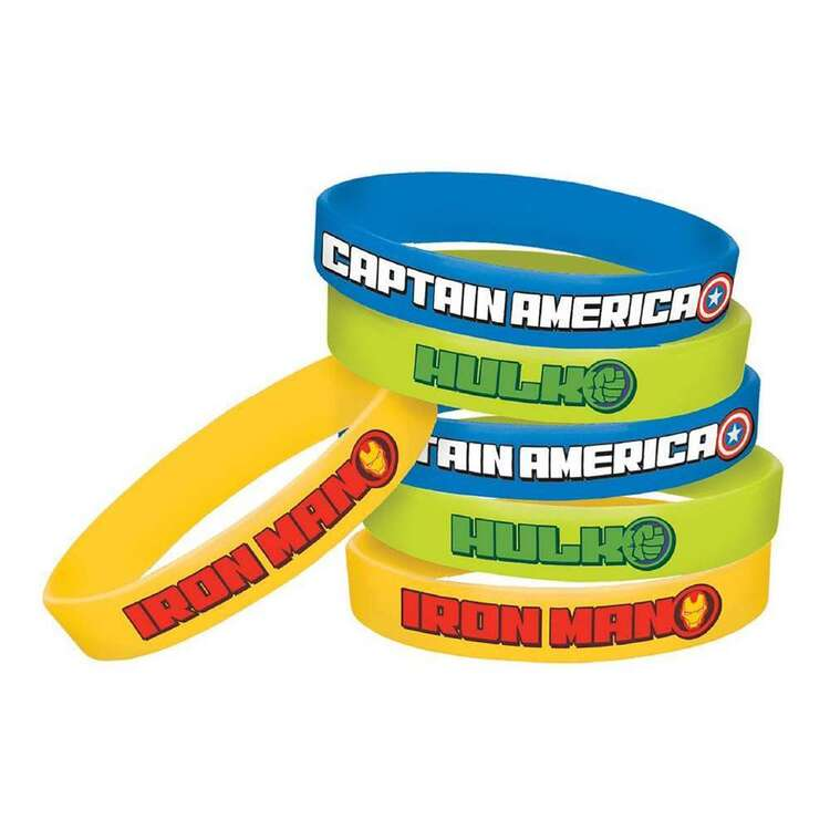 Amscan Avengers Epic Rubber Bracelets 6 Pack