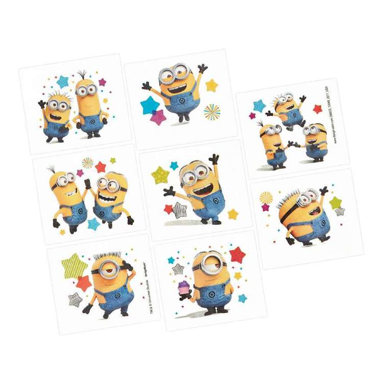 Amscan Despicable Me 3 Tattoo Favours Multicoloured