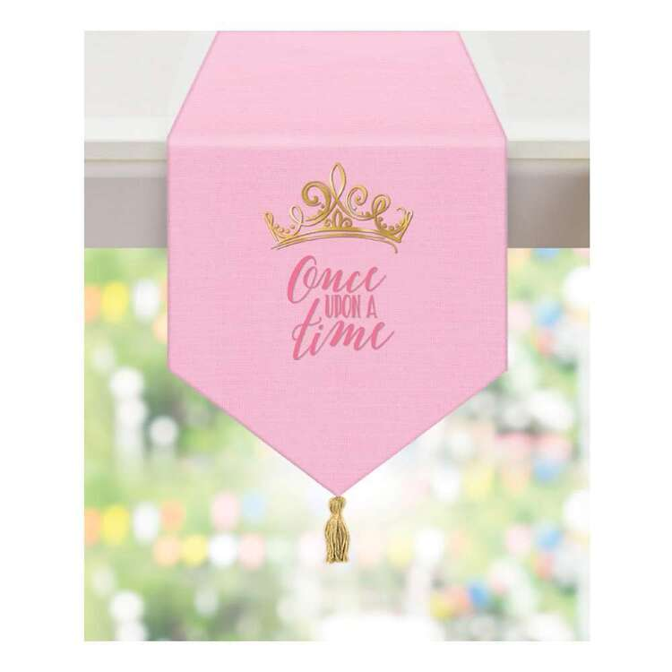 Amscan Disney Princess Once Upon A Time Fabric Table Runner