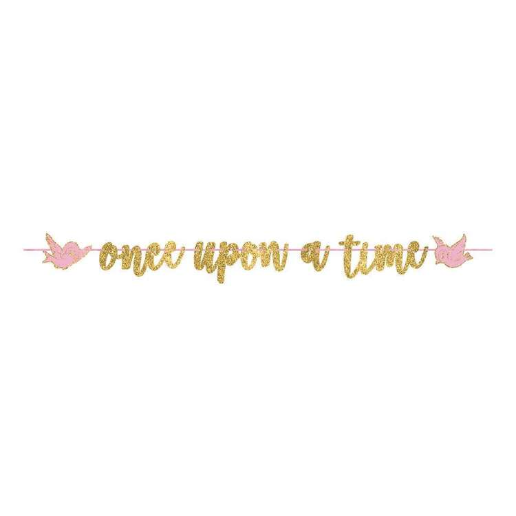 Amscan Disney Princess Once Upon A Time Glitter Ribbon Letter Banner