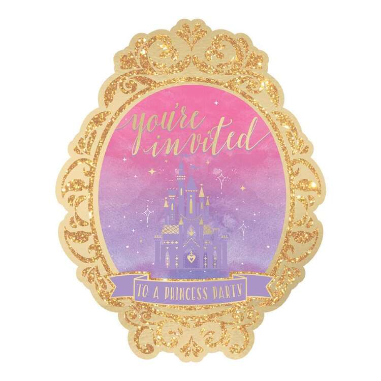 Amscan Disney Princess Once Upon A Time Deluxe Invitations 8 Pack