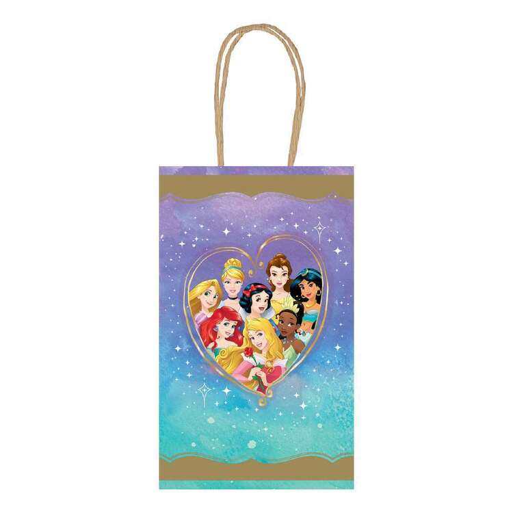 Amscan Disney Princess Once Upon A Time Kraft Bags 8 Pack