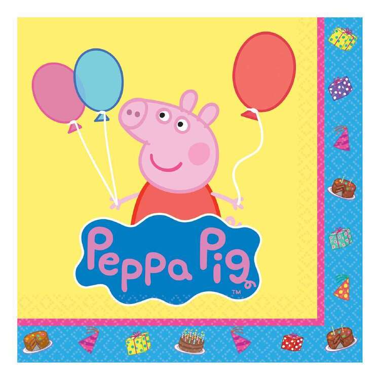 Amscan Peppa Pig Beverage Napkins 16 Pack
