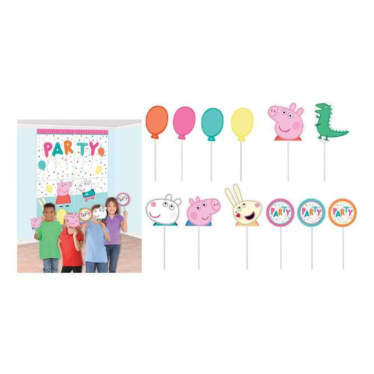 Amscan Peppa Pig Happy Birthday Scene Setter & Props