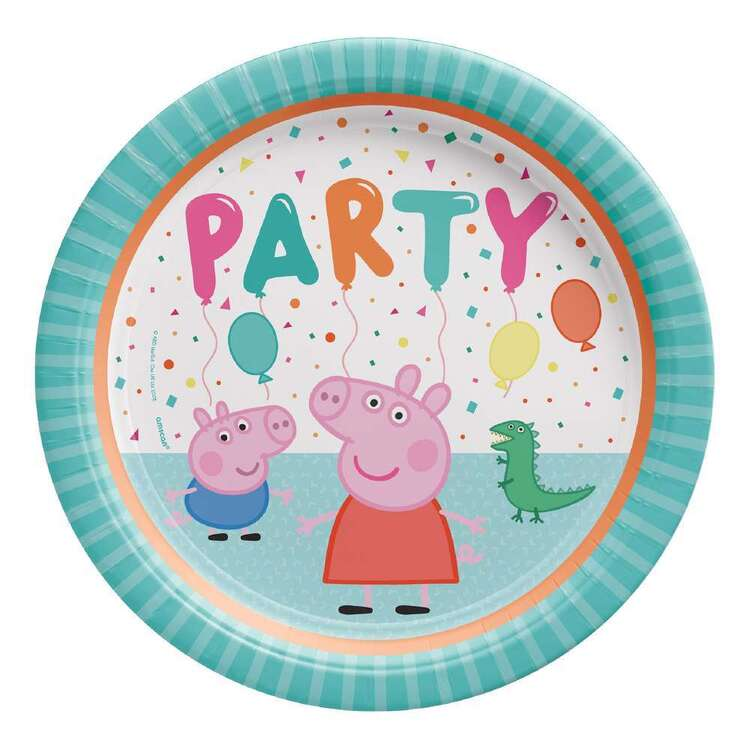 Amscan Peppa Pig Round Plates 8 Pack
