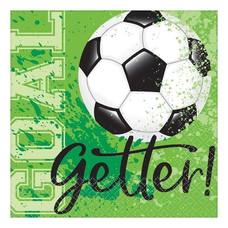 Amscan Soccer Goal Getter Beverage Napkins