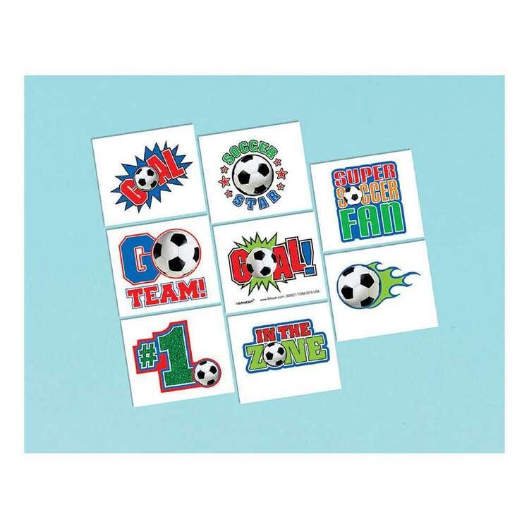 Amscan Soccer Tattoos 8 Pack