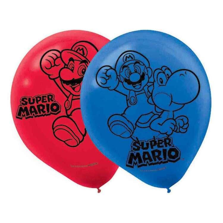 Amscan Super Mario Bros Latex Balloons 6 Pack