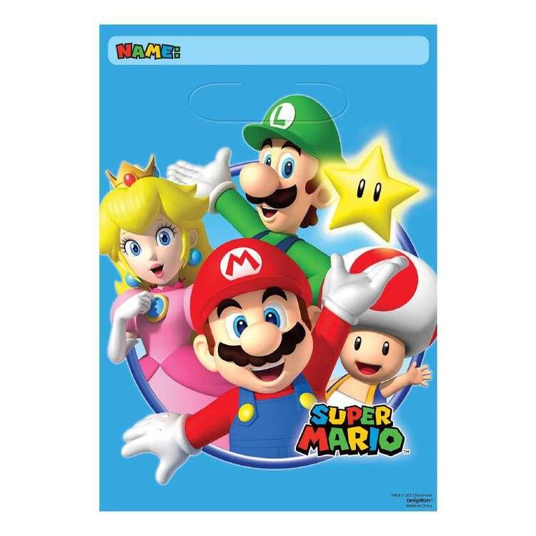 Amscan Super Mario Bros Loot Bags 8 Pack