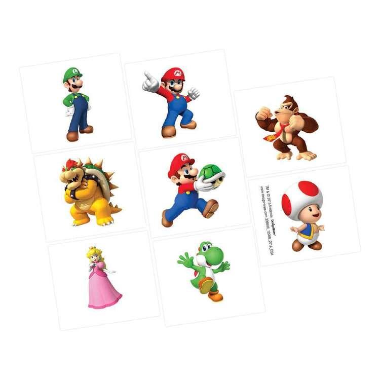 Amscan Super Mario Bros Tattoos