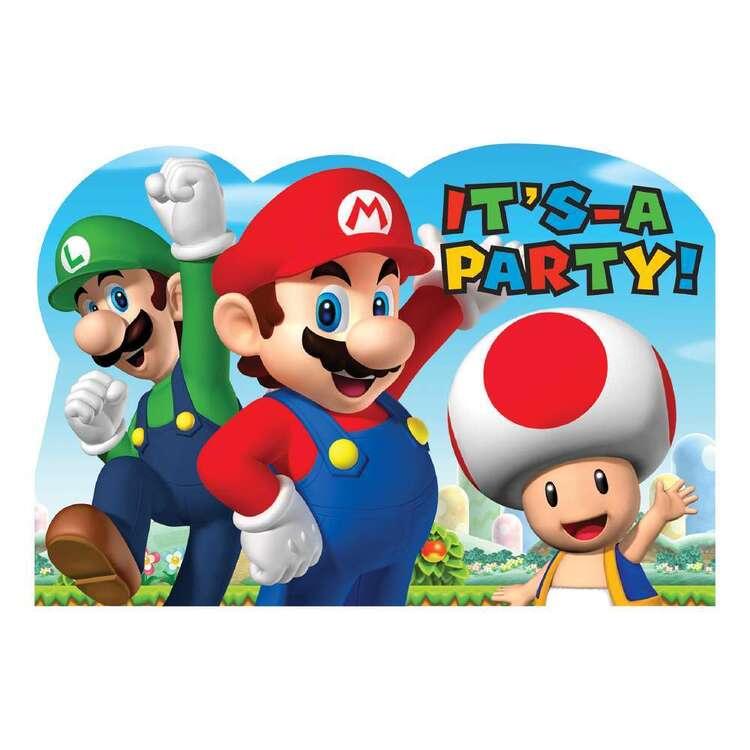 Amscan Super Mario Bros Postcard Invites 8 Pack