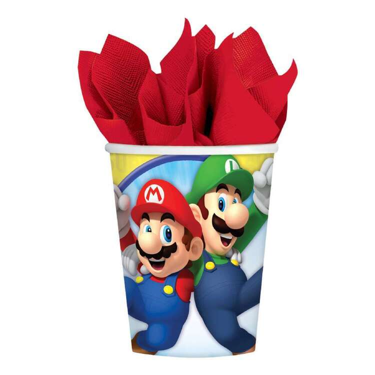 Amscan Super Mario Bros Cups 8 Pack