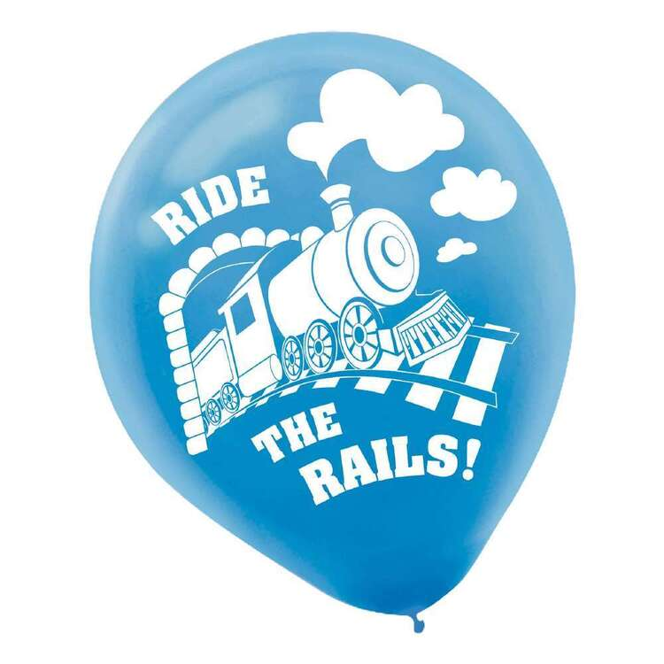 Amscan Thomas and Friends Train Latex Balloons 6 Pack