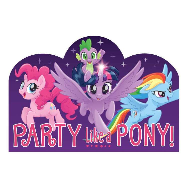 Amscan My Little Pony Friendship Adventures Postcard Invitations 8 Pack