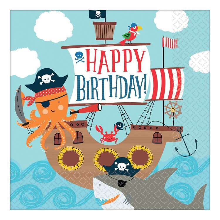 Ahoy Birthday Lunch Napkins