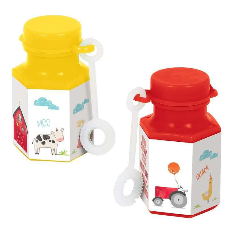 Amscan Barnyard Birthday Mini Bubble Favours 8 Pack