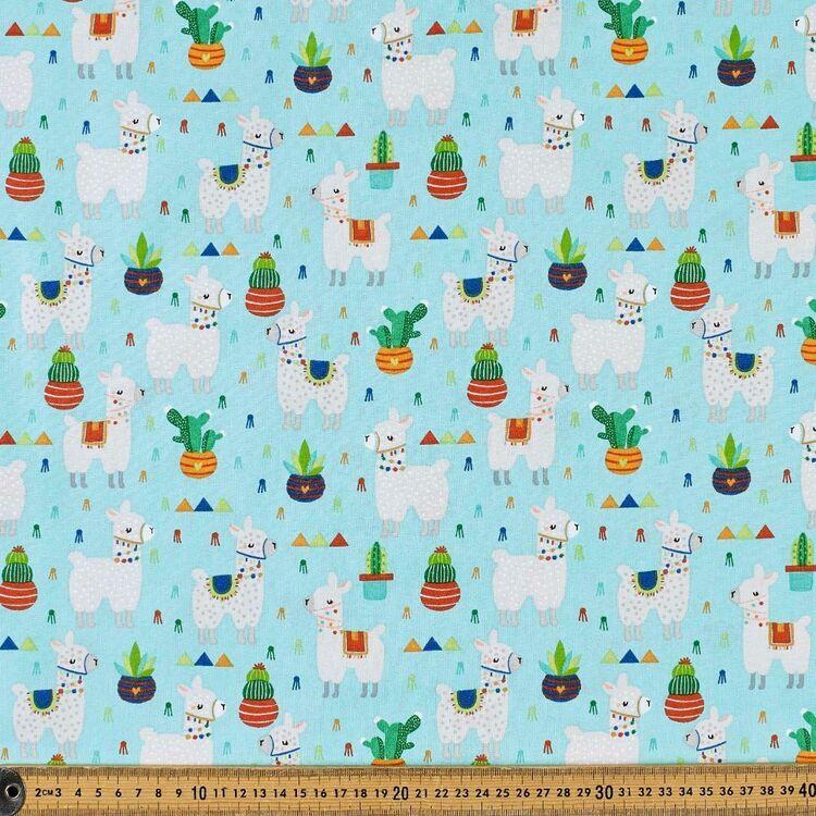 Llama & Cactus Cotton Fabric