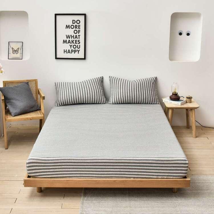 KOO Jersey Stripe Sheet Set