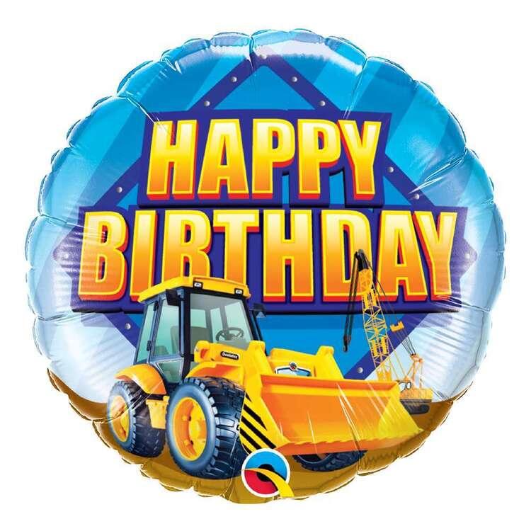 Qualatex Birthday Construction Zone Round Foil Balloon