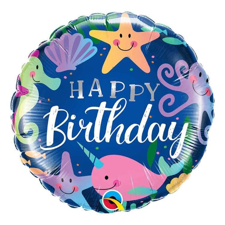 Qualatex Birthday Fun Under The Sea Round Foil Balloon
