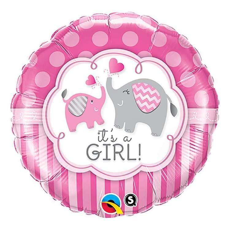 Qualatex It's A Girl Elephants Foil Balloon