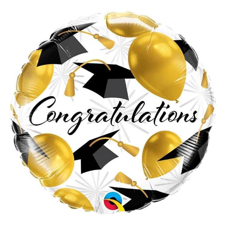 "Qualatex 18"" Graduation Congratulations Gold Micro Foil Balloon"