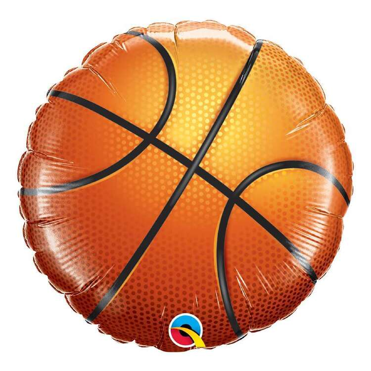 Qualatex Basketball Round Foil Balloon