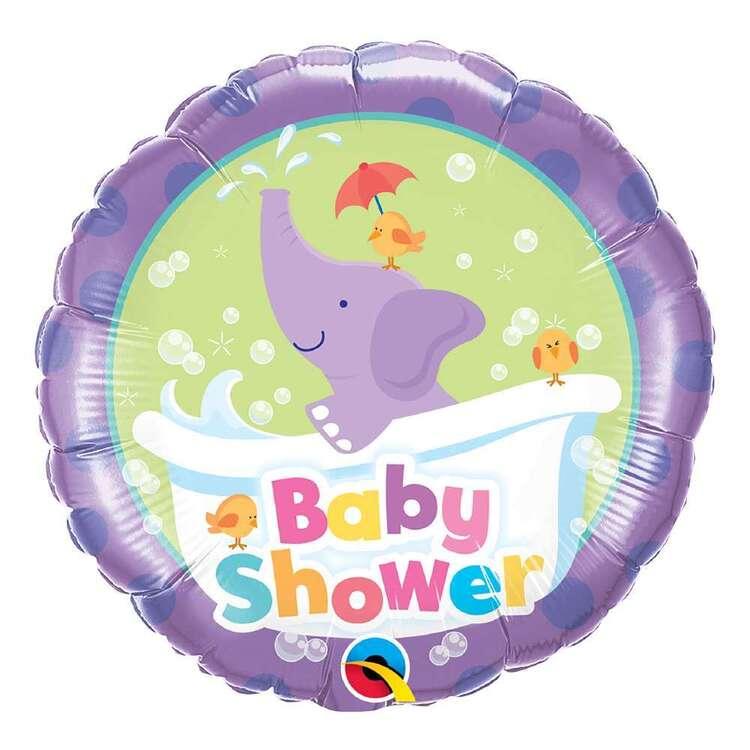 Qualatex Baby Shower Elephant Round Foil Balloon