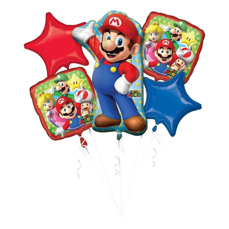 Anagram Super Mario Balloon Bouquet