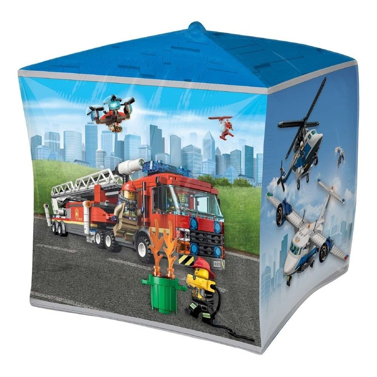 Anagram Lego City Ultrashape Cubez Balloon
