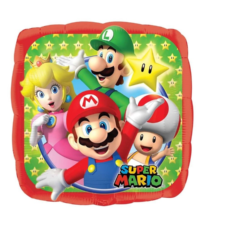 Anagram Mario Brothers Foil Balloon