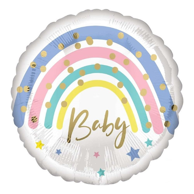 Anagram Pastel Rainbow Baby Foil Balloon