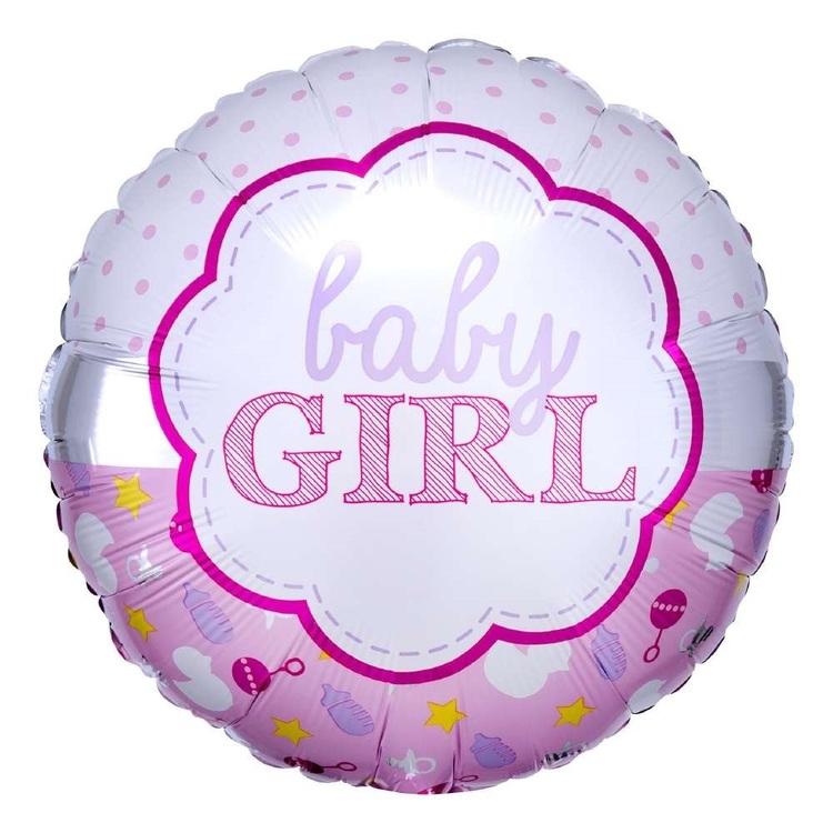 Anagram Baby Girl Scallop Foil Balloon