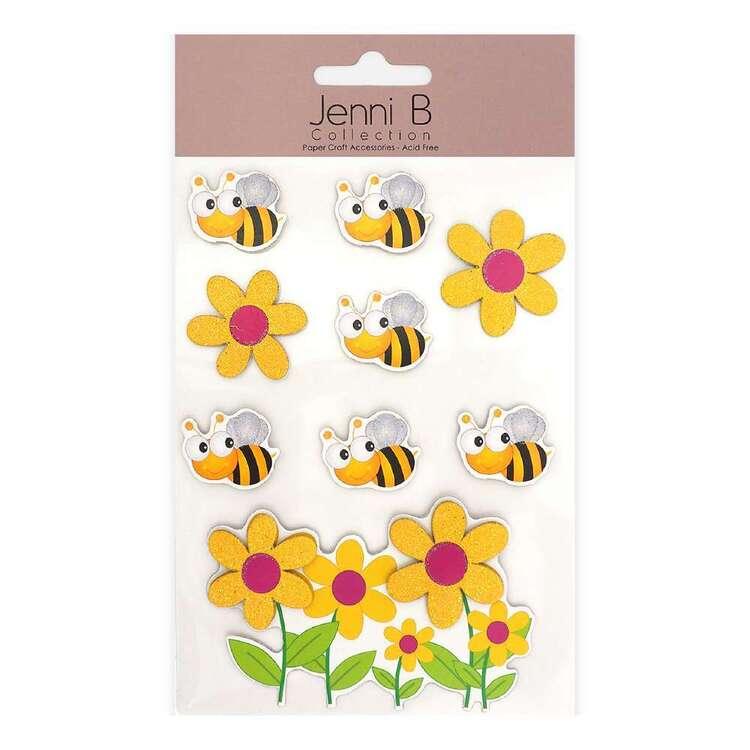 Jenni B Bumblebee Flower Stickers