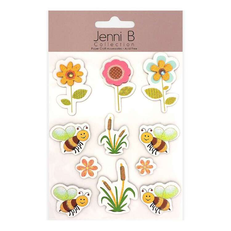 Jenni B Bees & Flower Stickers