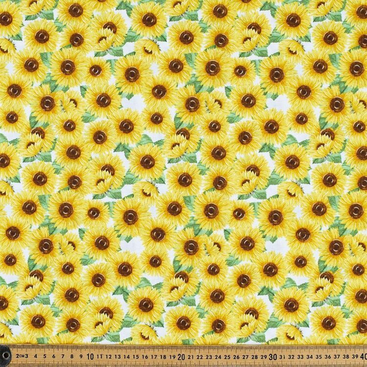 Sunflowers Cotton Fabric