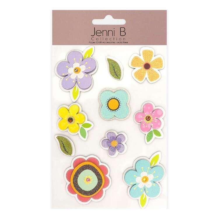 Jenni B Flower Pastel Stickers