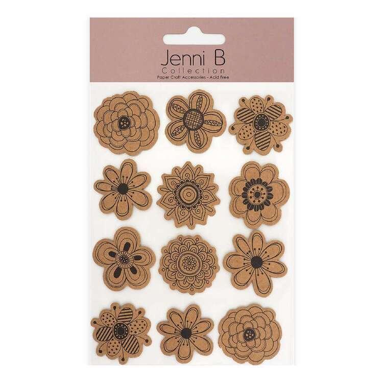 Jenni B Kraft Blossoms Stickers