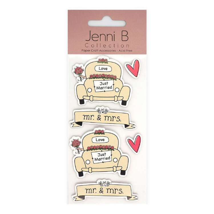 Jenni B Just Married Car Stickers