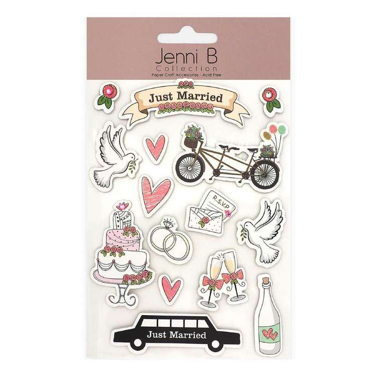 Jenni B Just Married Doves Stickers