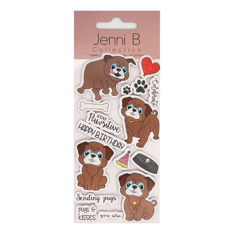 Jenni B Pugs Stickers