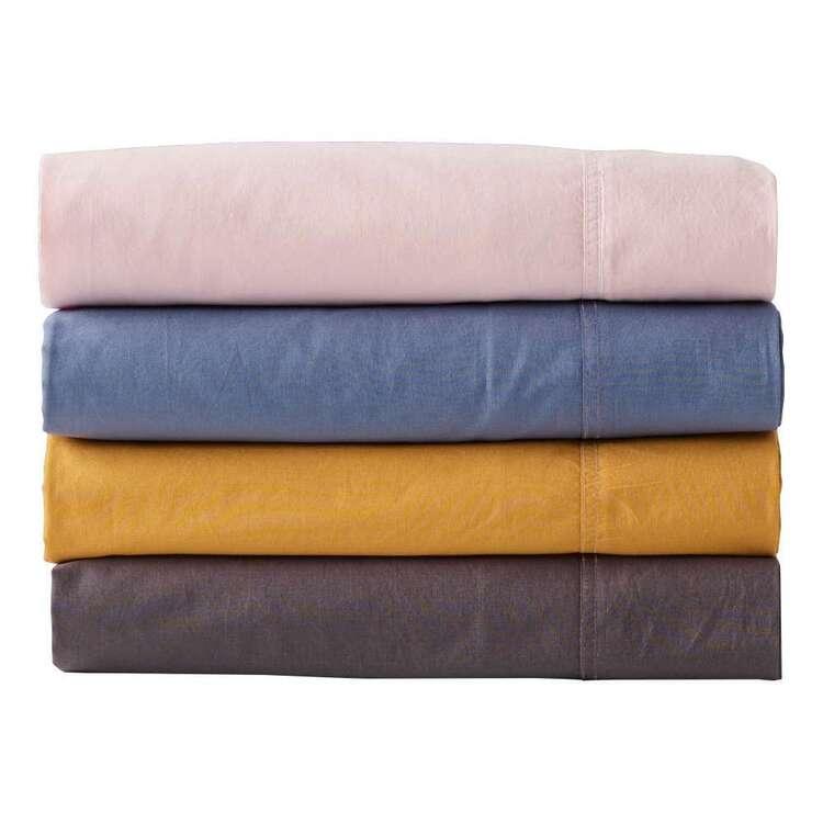 White Home Washed Cotton Sheet Set
