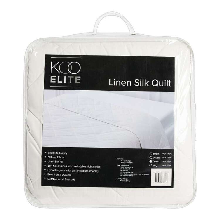 KOO Elite Linen & Mulberry Silk Quilt