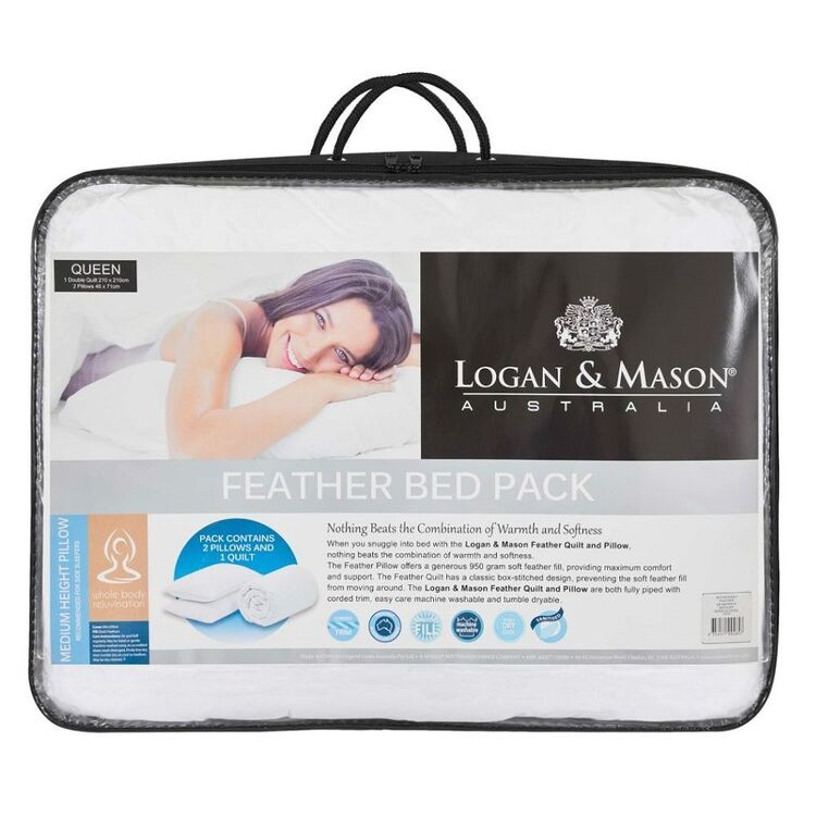 Logan & Mason Feather Bed Pack White
