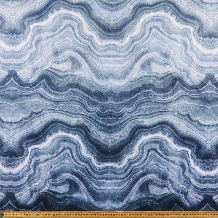Galena Molten 150 cm Printed Velvet Upholstery Fabric