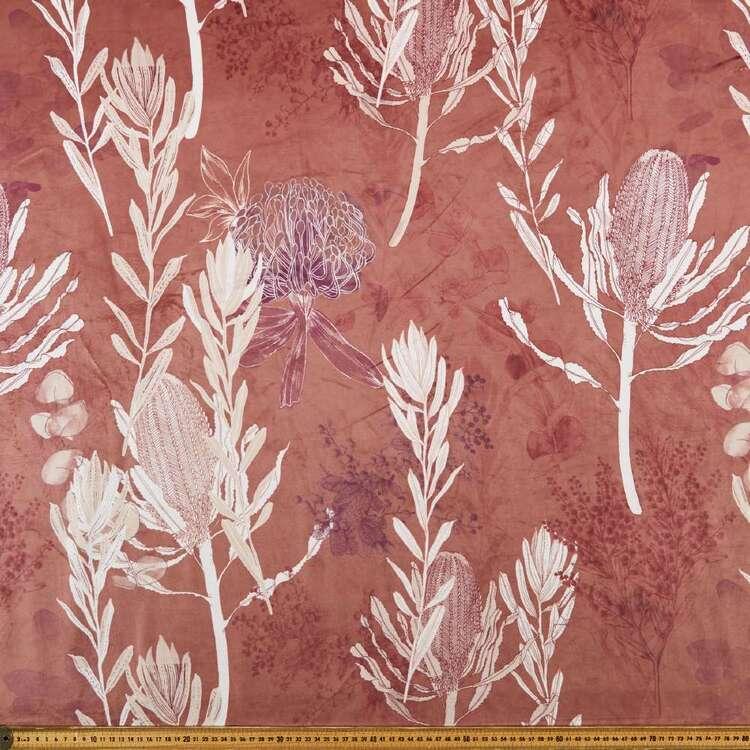 Galena Protea 150 cm Printed Velvet Upholstery Fabric