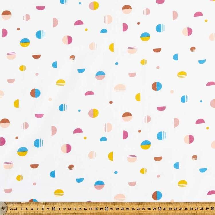 Mod Circles Multipurpose Cotton Fabric
